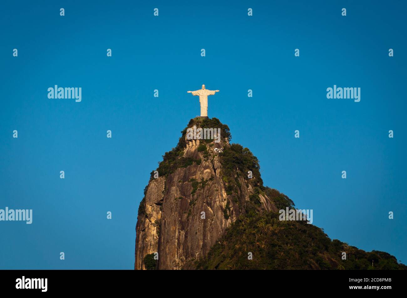 The famous landmark of Rio de Janeiro - Christ the Redeemer statue on the Corcovado mountain Stock Photo