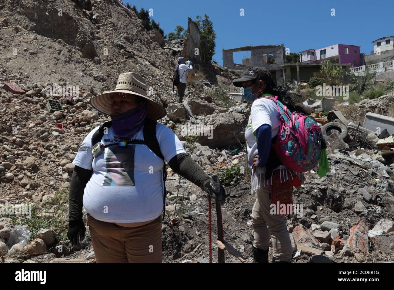 """August 10, the collective for the search for disappeared persons """"A nation looking for you"""" based in Tijuana, Baja California, found eight bodies Stock Photo"""