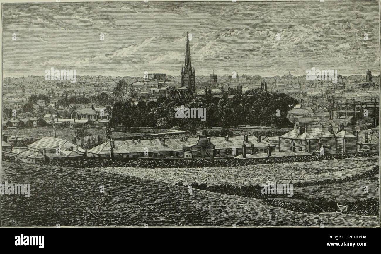 . Cathedrals, abbeys and churches of England and Wales, descriptive, historical, pictorial . GENERAL VIEW OF NORWICH. NORWICH Stock Photo