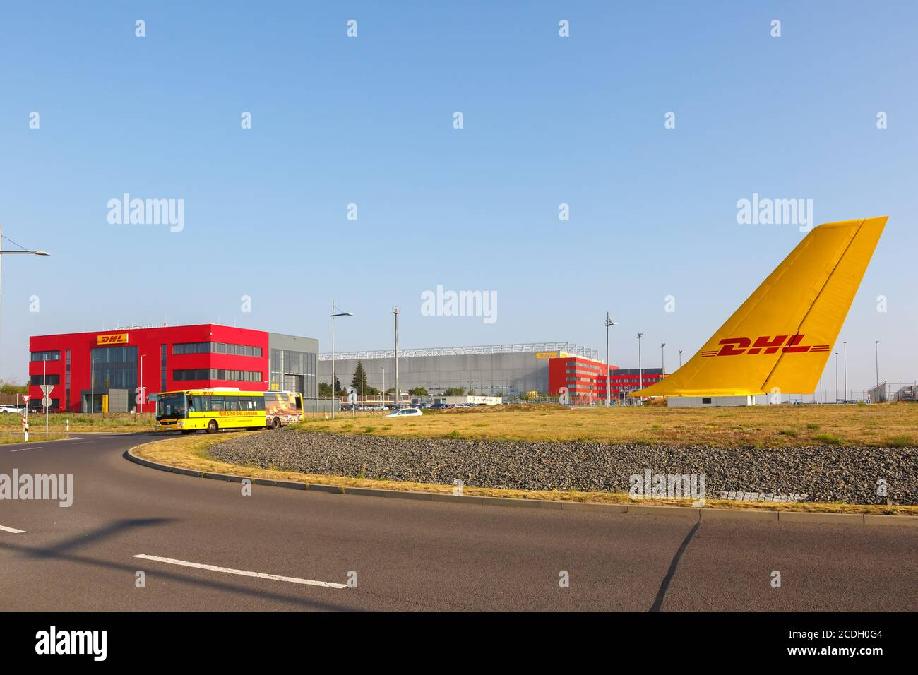 Leipzig Germany August 19 2020 Dhl Hub At Leipzig Halle Lej Airport Airplane Aircraft Tail In Germany Stock Photo Alamy