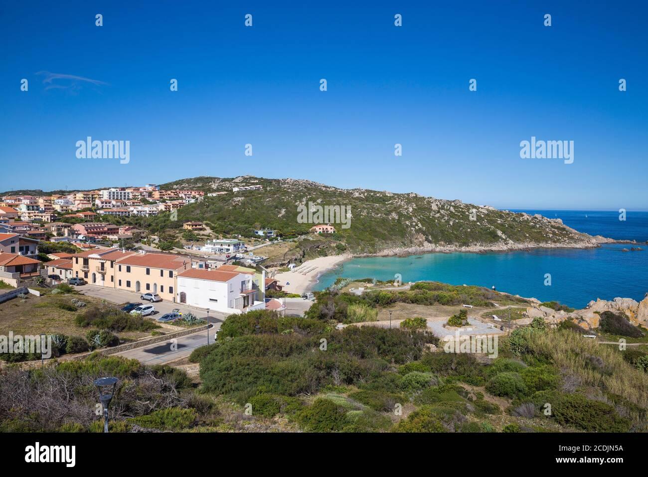 Italy, Sardinia, Santa Teresa Gallura, Rena Bianca beach Stock Photo