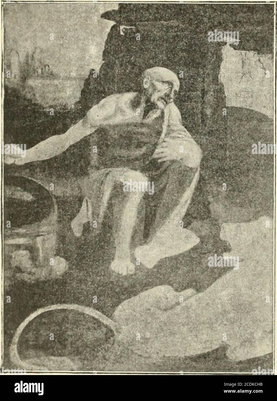 . Revue de l'art chrétien . ontre le ciseau, exécutant louvrage qui loccupependant dix-sept années, la statue équestre duduc François Sforza, père de Ludovic le More. Peu nombreux sont les dessins pour la Cène,que nous possédons, mais cependant, tout le REVUE DE laici I HNÉT1KNl8çg. — 2,lle LIVRAISON 156 JRcliuc lie l&vt chrétien. prouve, lenfantement en a été laborieux. Rien,dailleurs, dans lœuvre de lartiste ne prend corpsquaprès un travail considérable : les croquis, lesébauches qui demeurent, montrent la conscienceapportée par Léonard aux plus petits détails,les portraits, comme les carica Stock Photo