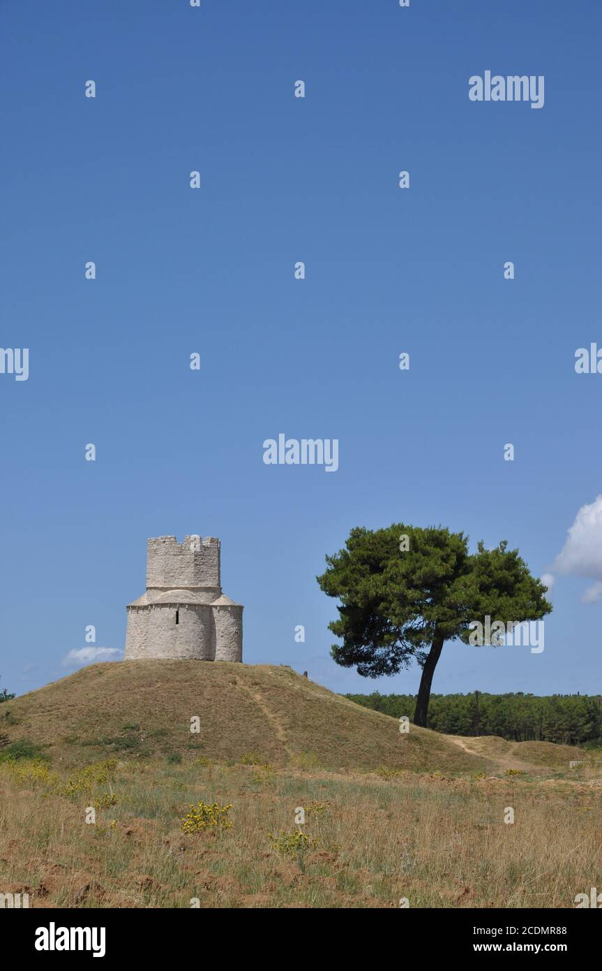 Church Sveta Nikola near Nin, Croatia Stock Photo