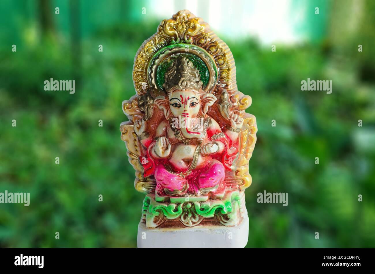 Celebrating the Festival of Lord Ganesha Stock Photo