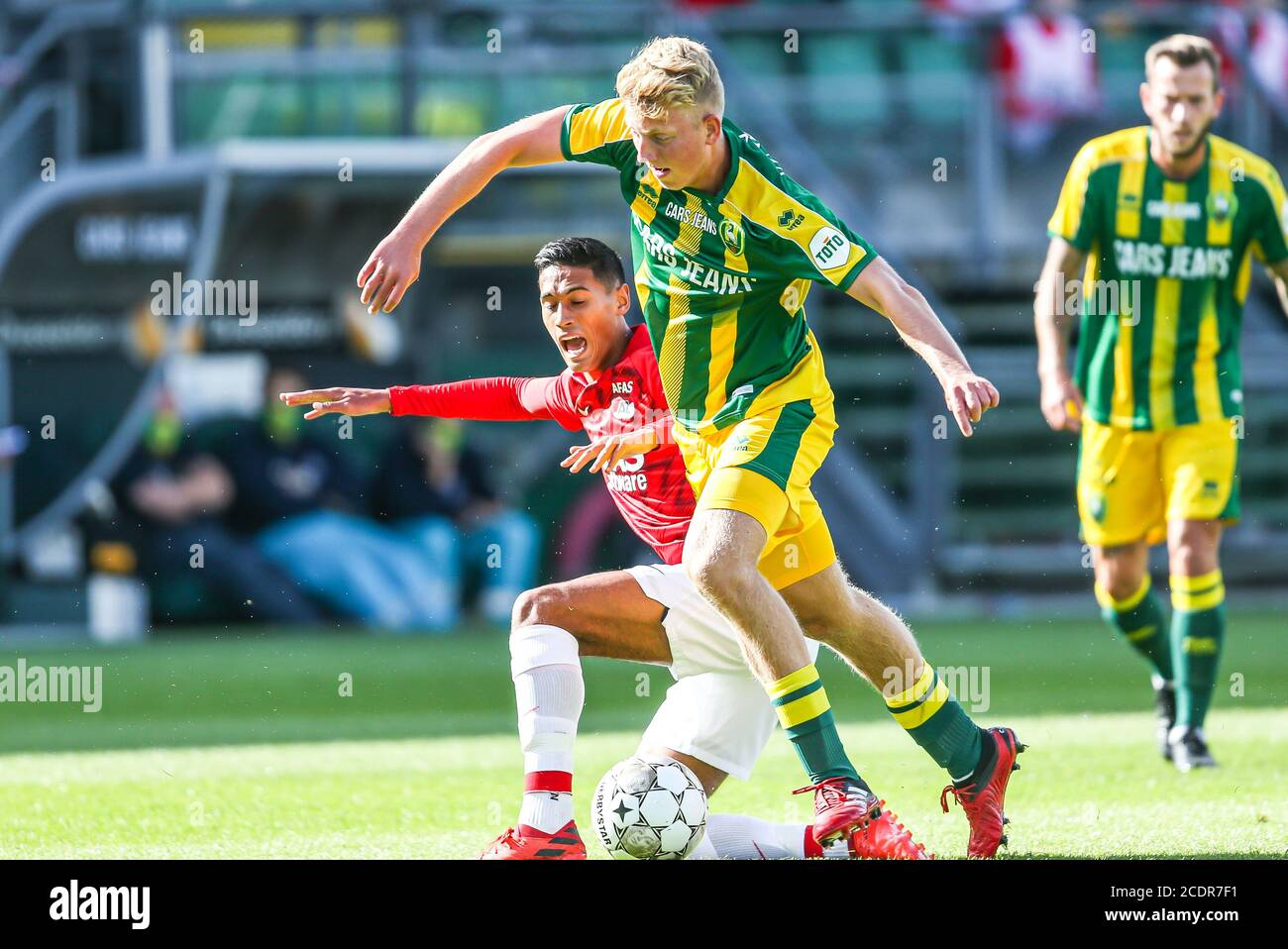 Rotterdam 29 8 20 Cars Jeans Stadion Pre Season 20 21 Ado Den Haag Az Az Player Tijjani Reijnders Ado Player Kees De Boer Credit Pro Shots Alamy Live News Stock Photo Alamy