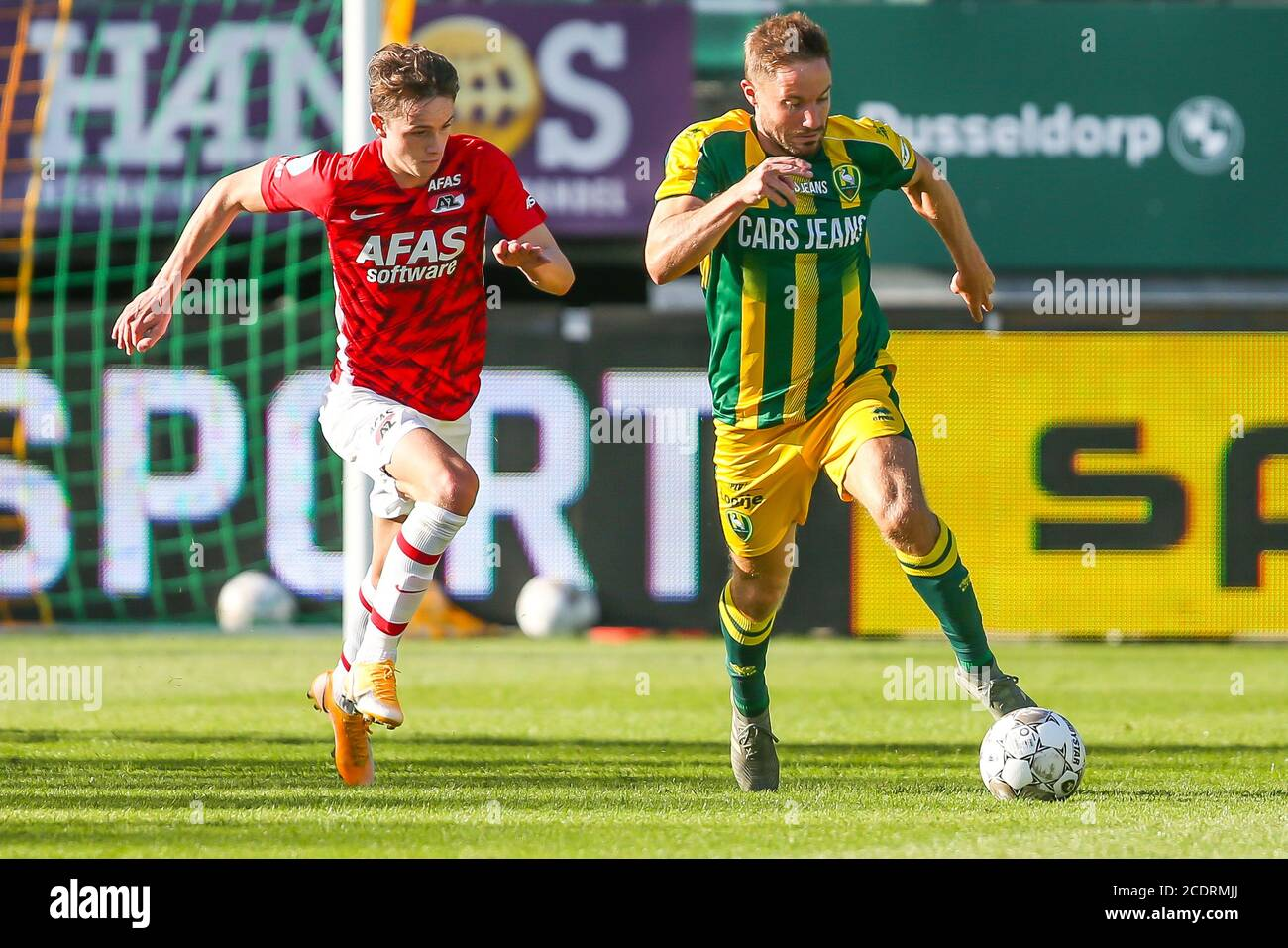 Rotterdam 29 8 20 Cars Jeans Stadion Pre Season 20 21 Ado Den Haag Az Az Player Fedde De Jong Ado Player Aaron Meijers Credit Pro Shots Alamy Live News Stock Photo Alamy