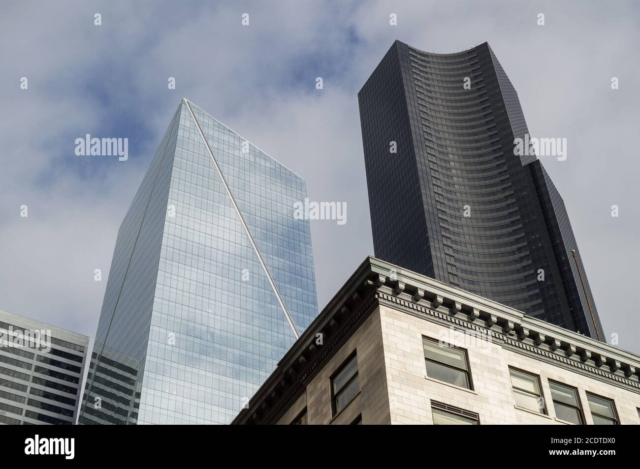 High Rises, Office Buildings in Downtown Seattle, Washington, USA Stock Photo