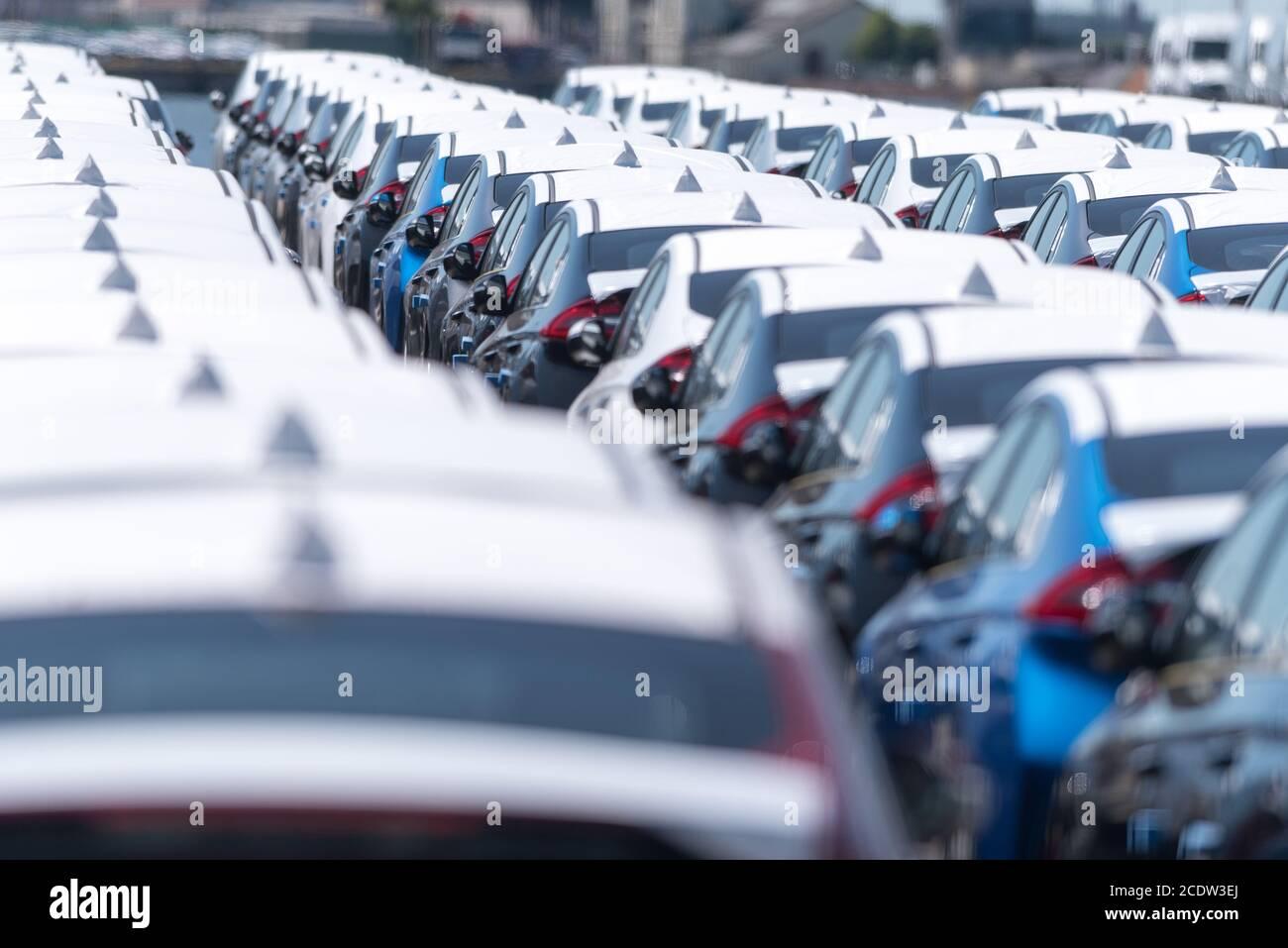 Car handling Stock Photo