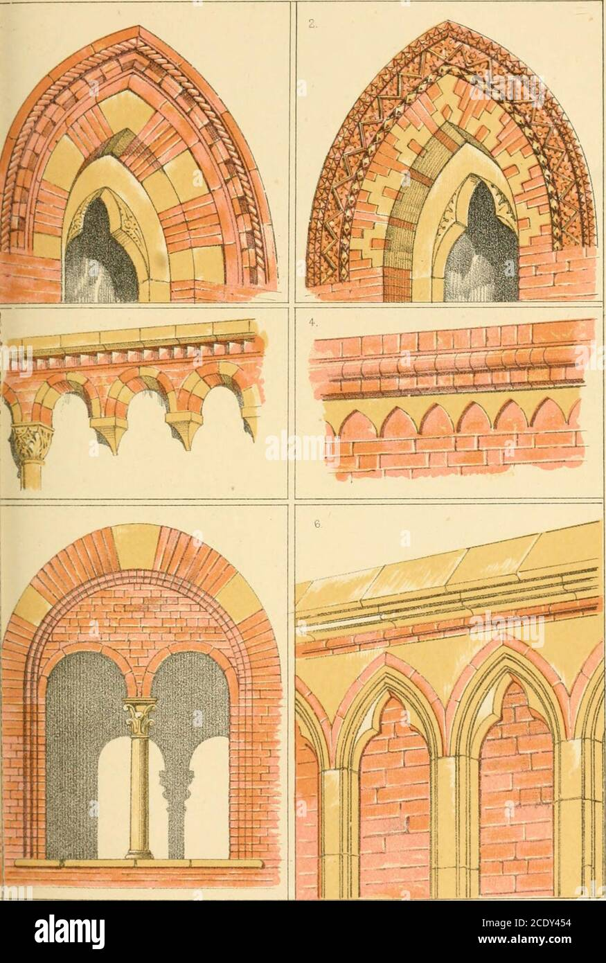 Brick And Marble In The Middle Ages Notes Of Tours In The North Of Italy Ters Which Finish At The Top In An Arcaded Cornice Of Brick Ineach Of The Two