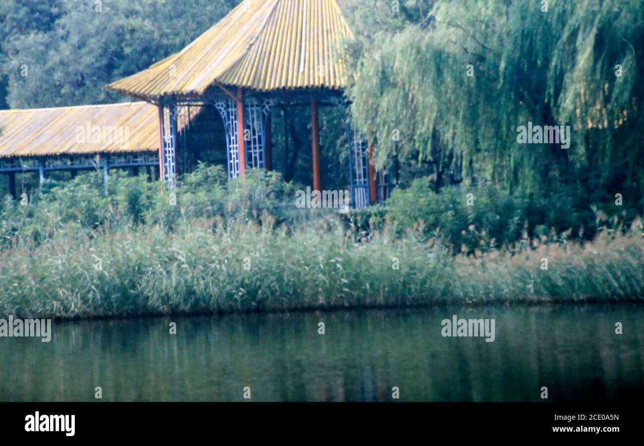 old photo of a Music Chinese Pavillion in Hangzhou Stock Photo