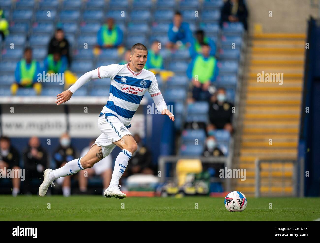Oxford, UK. 29th Aug, 2020. Lyndon Dykes of QPR during the 2020/21 behind closed doors Pre Season Friendly match between Oxford United and Queens Park Rangers at the Kassam Stadium, Oxford, England on 29 August 2020. Photo by Andy Rowland. Credit: PRiME Media Images/Alamy Live News Stock Photo
