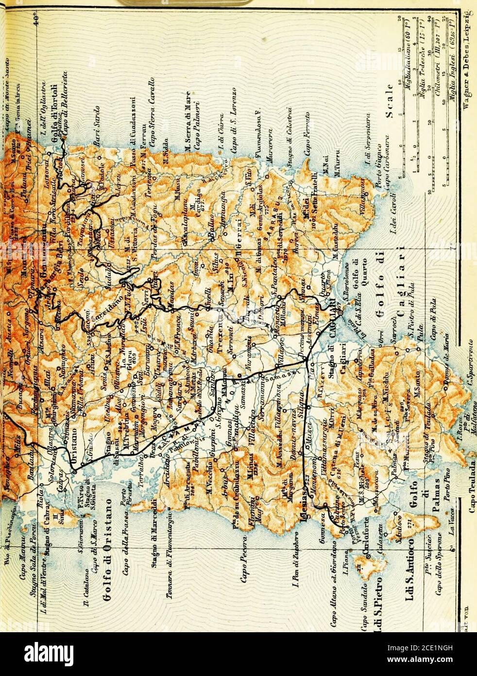 Cartina Sardegna Giba