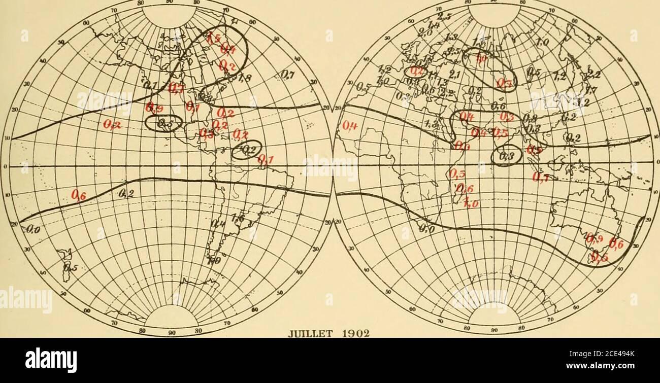 . Nova acta Regiae Societatis Scientiarum Upsaliensis . 93 28 Mars 88 1823 23 Mars 83 Sur le prétendu changement du Climat Européen etc. 31 Tab. 4. Températures moyennes de Janvier et Février et la débâclede Mälaren à Westerås. Année Moy. de Thorshavn et Beru- f j ord Écart dumoy. Upsala Écart dumoy. Mälarenjour delannée Ecart dumoy. 1875 + 1.6 + 0.7 - 9.0 -4.3 129 + 1 76 ? + 1.8 + 0.9 -4.7 0.0 118 - 1 77 -0.2 - 1.1 - 6.8 - 2.1 135 + 16 78 + 1.5 + 0.6 -2.8 + ].9 107 - 12 79 + 0.5 - 0.4 -6.8 - 2.1 123 + 4 80 + 2.8 + 1.9 - 2.3 + 2.4 112 - 7 81 -2.8 -3.7 -9.2 -4.5 141 + 22 82 4- 1.5 + 0.6 -0.7 + Stock Photo