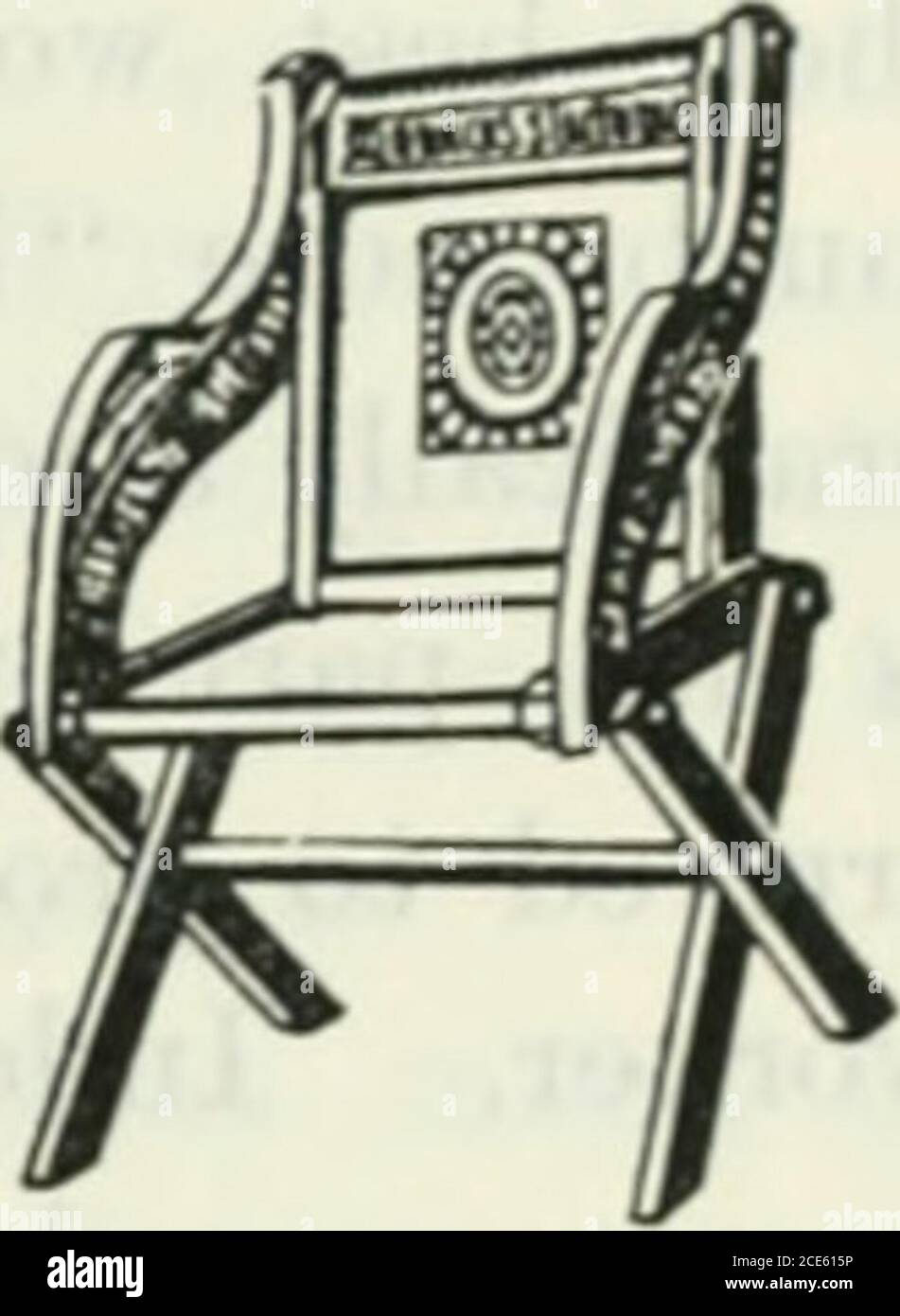 . The book of decorative furniture, its form, colour and history . ORIGIXAL CLASTON- 13K1T1SH DECORATIVE FUKMTUKE TLDOU 105 it advisable to leave oijen the spaces at the sides underneath the chairarms ; for fashions in di-ess often dictate the forms of furniture. Neither the Elizabethan nor the Jacobean chair was easily movedwith one hand. Comparatively light chairs, known as Ccxiuetoire,Cacfjtietetise, Conversation, or Chaue de Feiaine, with high and narrowbacks, were in use on the Continent during the sixteenth century, and afew were imported to this country, but English chair-makeis were fa Stock Photo