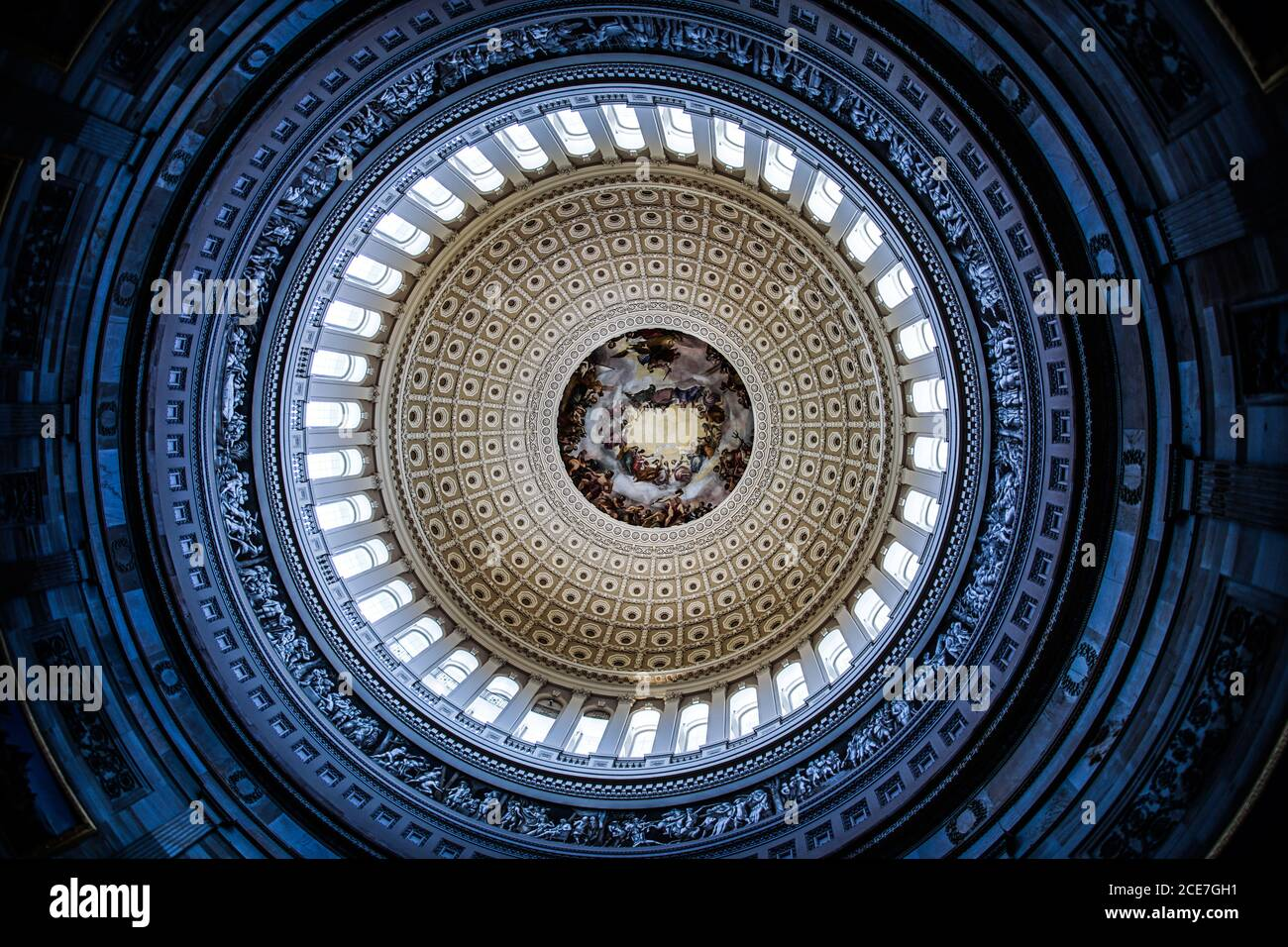 United States Capitol ceiling painting of the (United States Capitol) Stock Photo