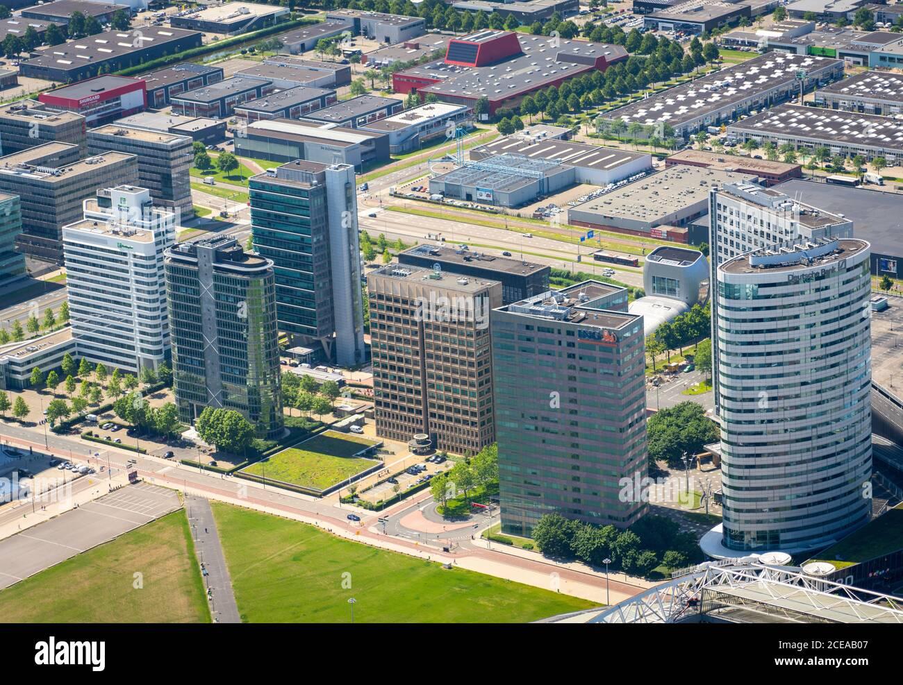 Amsterdam Zuidoost vanuit de lucht. Foto: Robbert Frank Hagens / HH Stock Photo