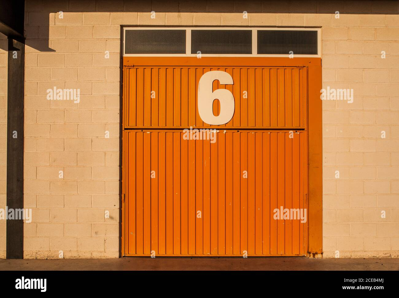 Orange Garage Door High Resolution Stock Photography And Images Alamy