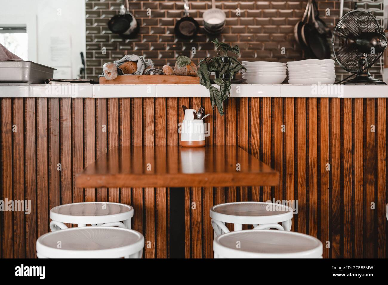 Wooden Bar Stools High Resolution Stock Photography And Images Alamy