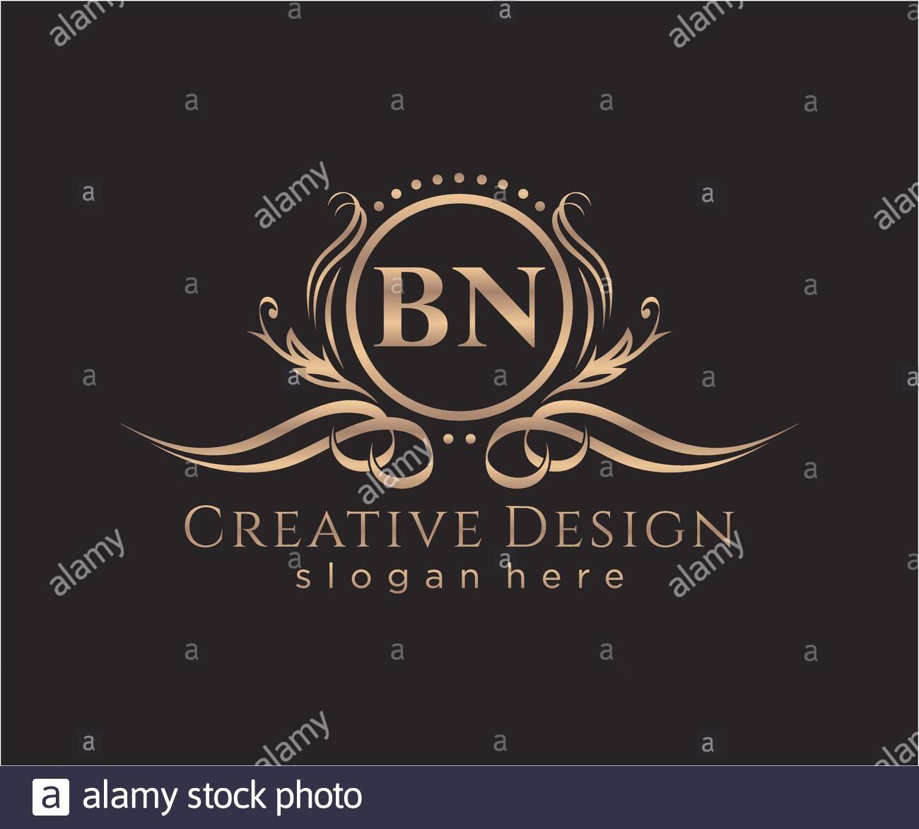 Initial Bn Beauty Monogram And Elegant Logo Design Stock Vector Image Art Alamy