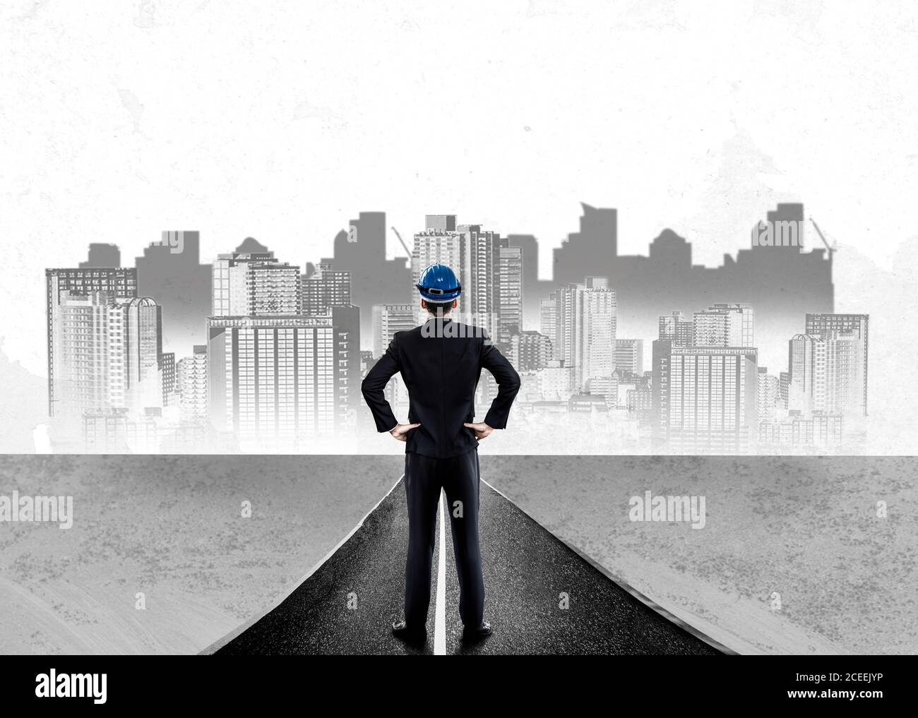 City civil planning and real estate development. Stock Photo