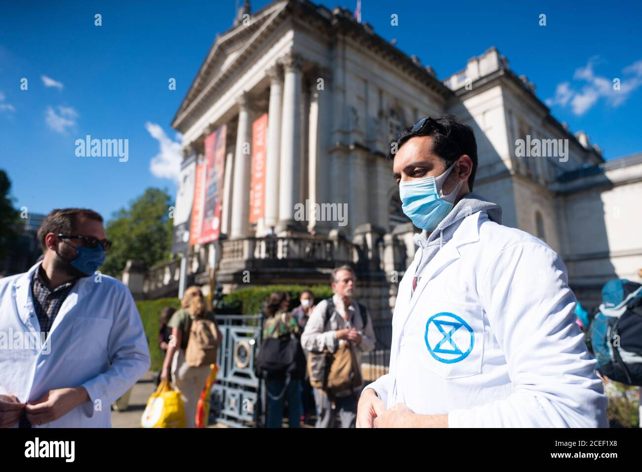 London, UK. Tuesday, September 1, 2020. A protest by Extinction Rebellion in London in support of the Climate and Ecological Emergency (CEE) Bill. Photo: Roger Garfield/Alamy Live News Stock Photo