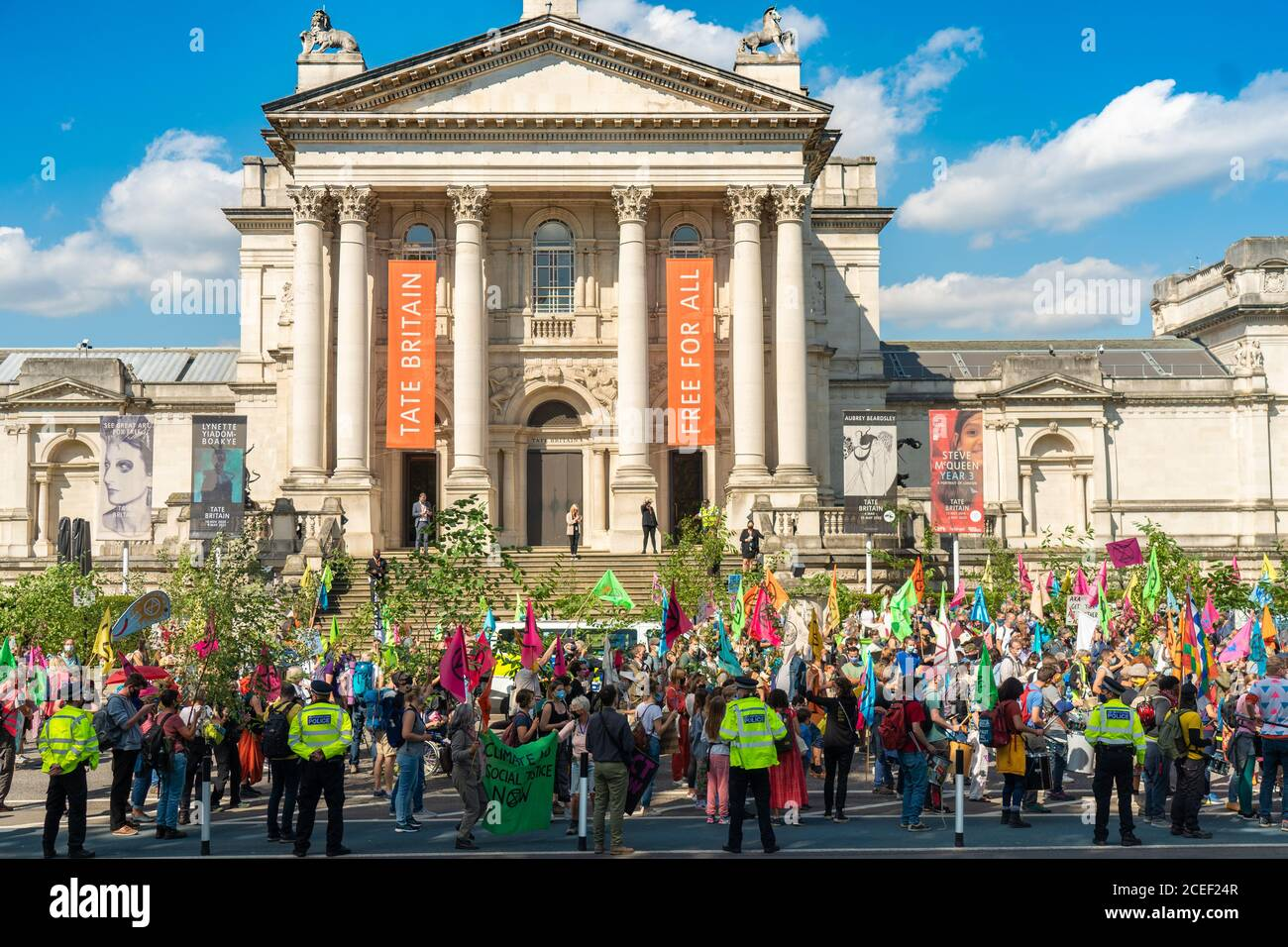 London, UK. Tuesday, September 1, 2020. A protest by Extinction Rebellion starting out at the Tate Britain in London in support of the Climate and Ecological Emergency (CEE) Bill. Photo: Roger Garfield/Alamy Live News Stock Photo