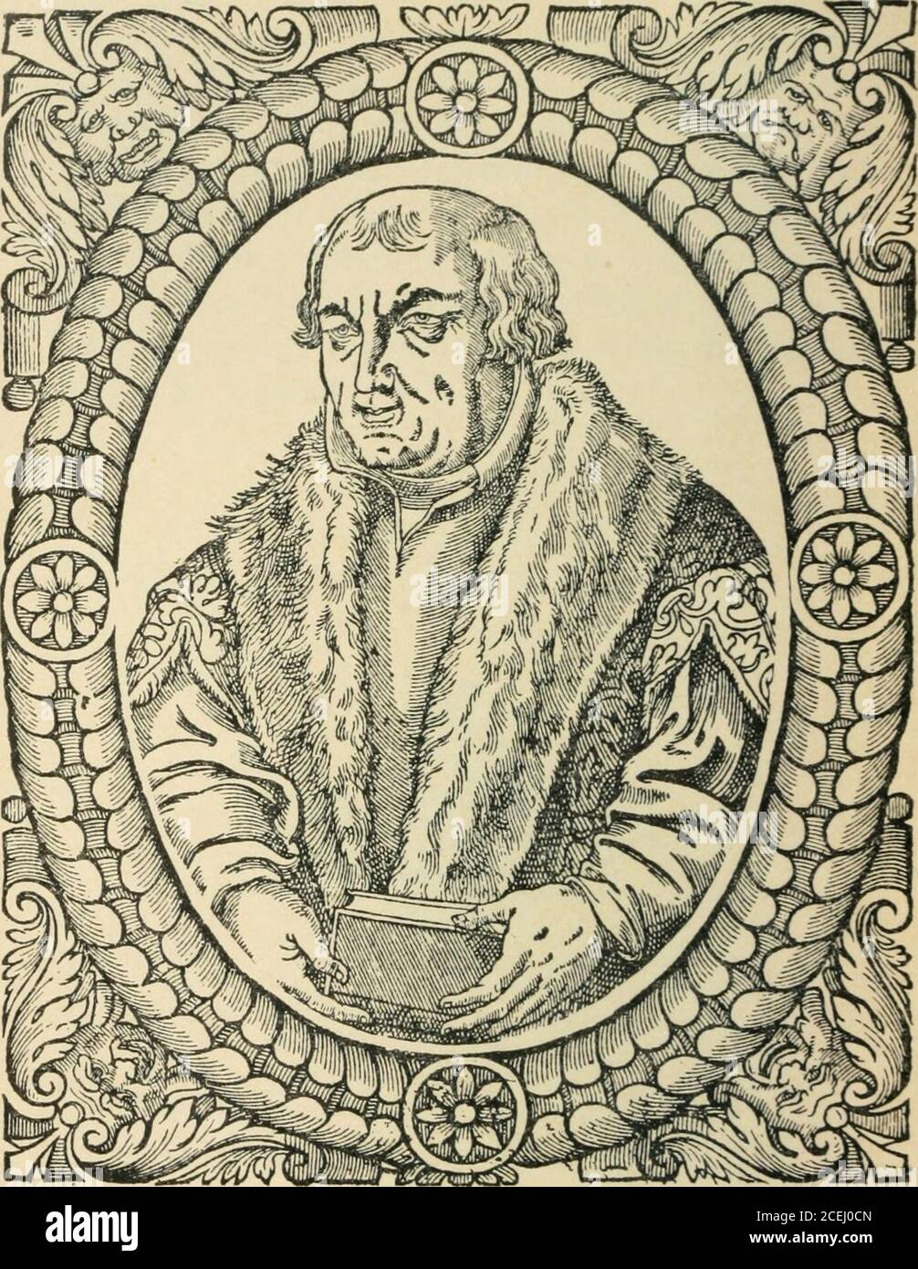 . Beza's Icones, contemporary portraits of reformers of religion and letters; being facsimile reproductions of the portraits in Beza's Icones (1580) and in Goulard's edition (1581). 64. PRINCE GEORGE OF ANHALT. George, Prince of Anhalt (Georgius Anhaltinus Princeps) ANHALT, a duchy in Central Germany, withDessau for its capital, rose to the positionof an independent principality in the firsthalf of the thirteenth century. On thedeath of Henry I., in 1252, it was par-titioned into three—Ascania, Bernburg, and Zerbst.Of the Protestant Princes of Germany no one washeld in greater honour or admitt Stock Photo