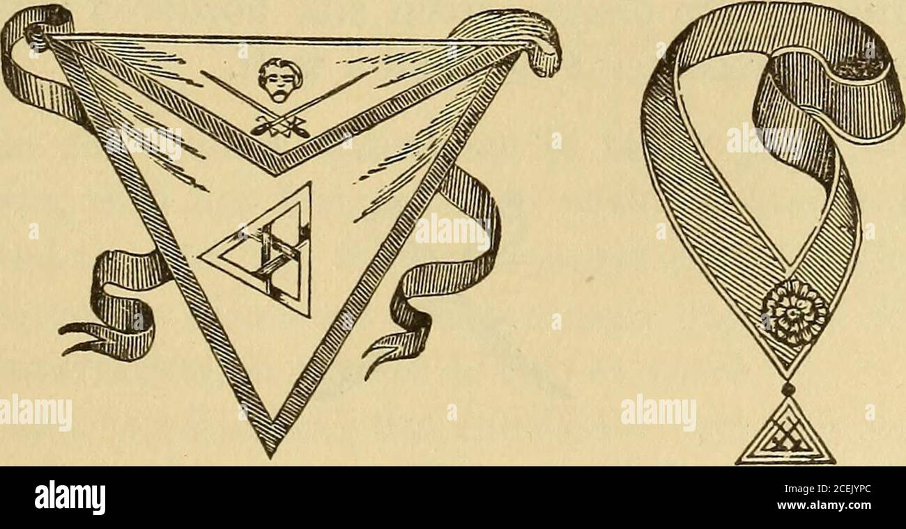 The Book Of The Ancient And Accepted Scottish Rite Oaded With Chains The Former Onall Fours Eating Grass In The Third Apartment A Bridge Is Represented Extended Over A River And Arude