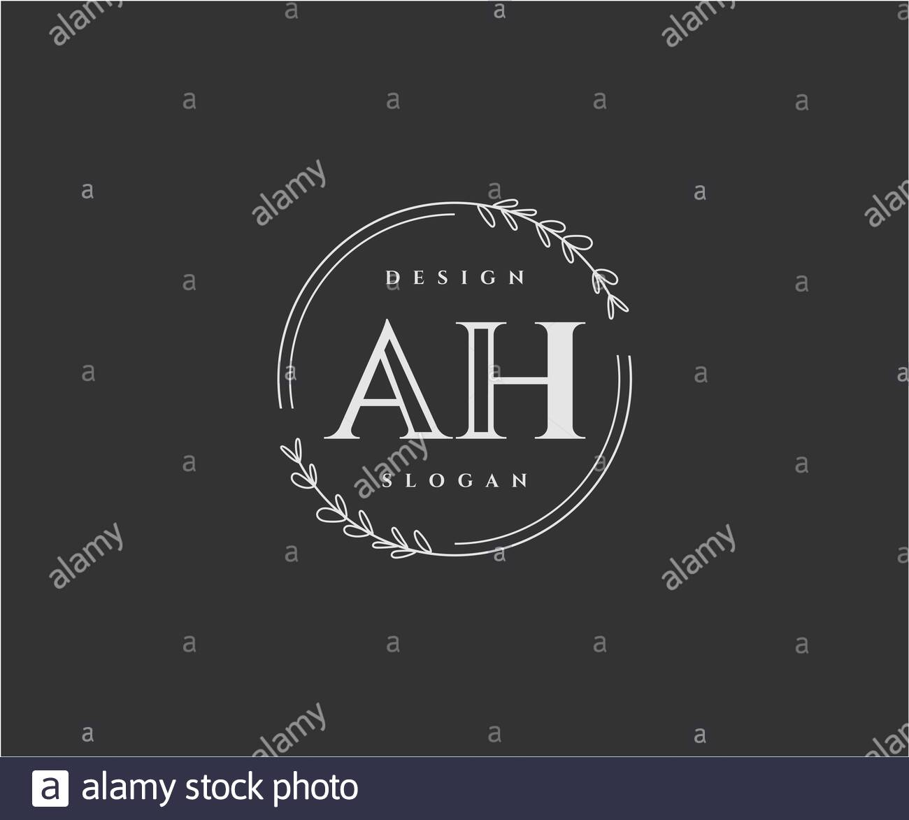 Initial Ah Beauty Monogram And Elegant Logo Design Stock Vector Image Art Alamy