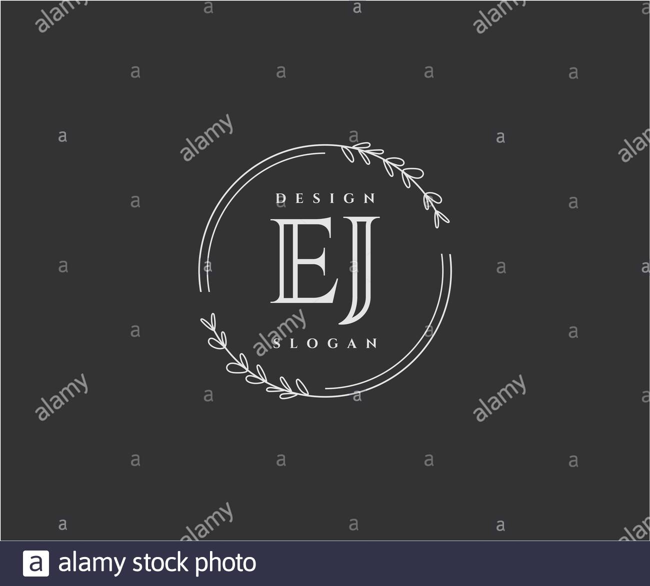 Initial Ej Beauty Monogram And Elegant Logo Design Stock Vector Image Art Alamy