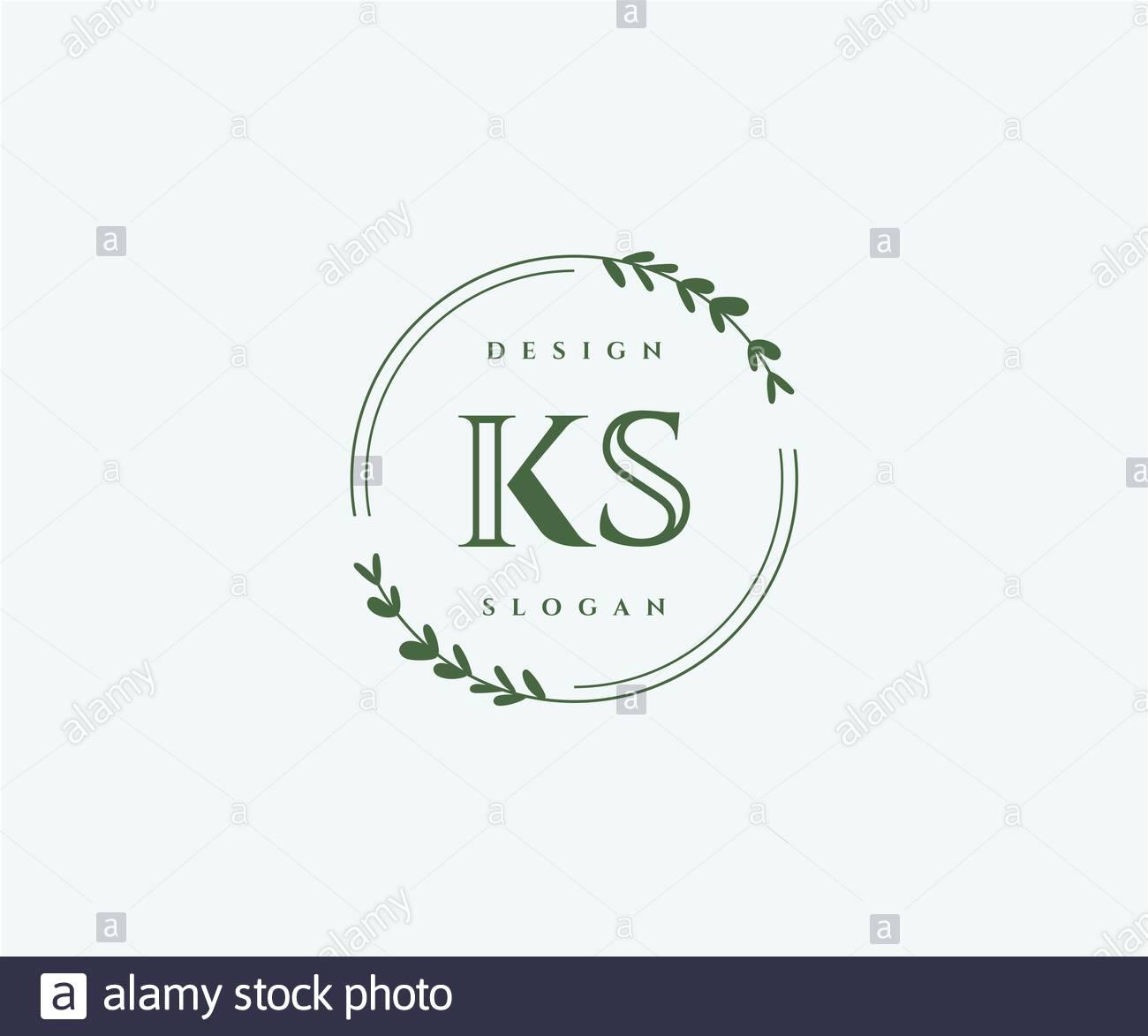 Initial Ks Beauty Monogram And Elegant Logo Design Stock Vector Image Art Alamy