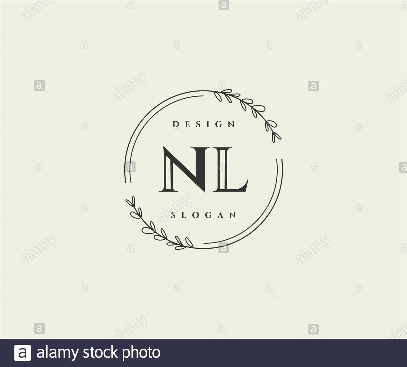 Initial Nl Beauty Monogram And Elegant Logo Design Stock Vector Image Art Alamy
