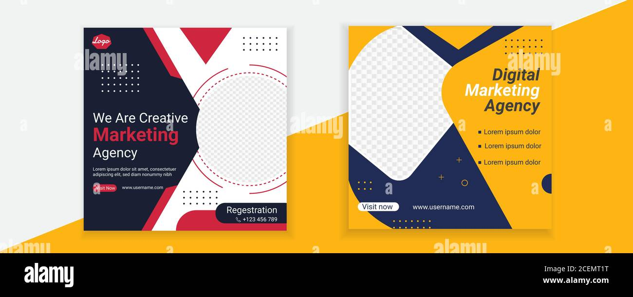 Digital Marketing Agency Social Media Post Template Design Stock Vector  Image & Art - Alamy