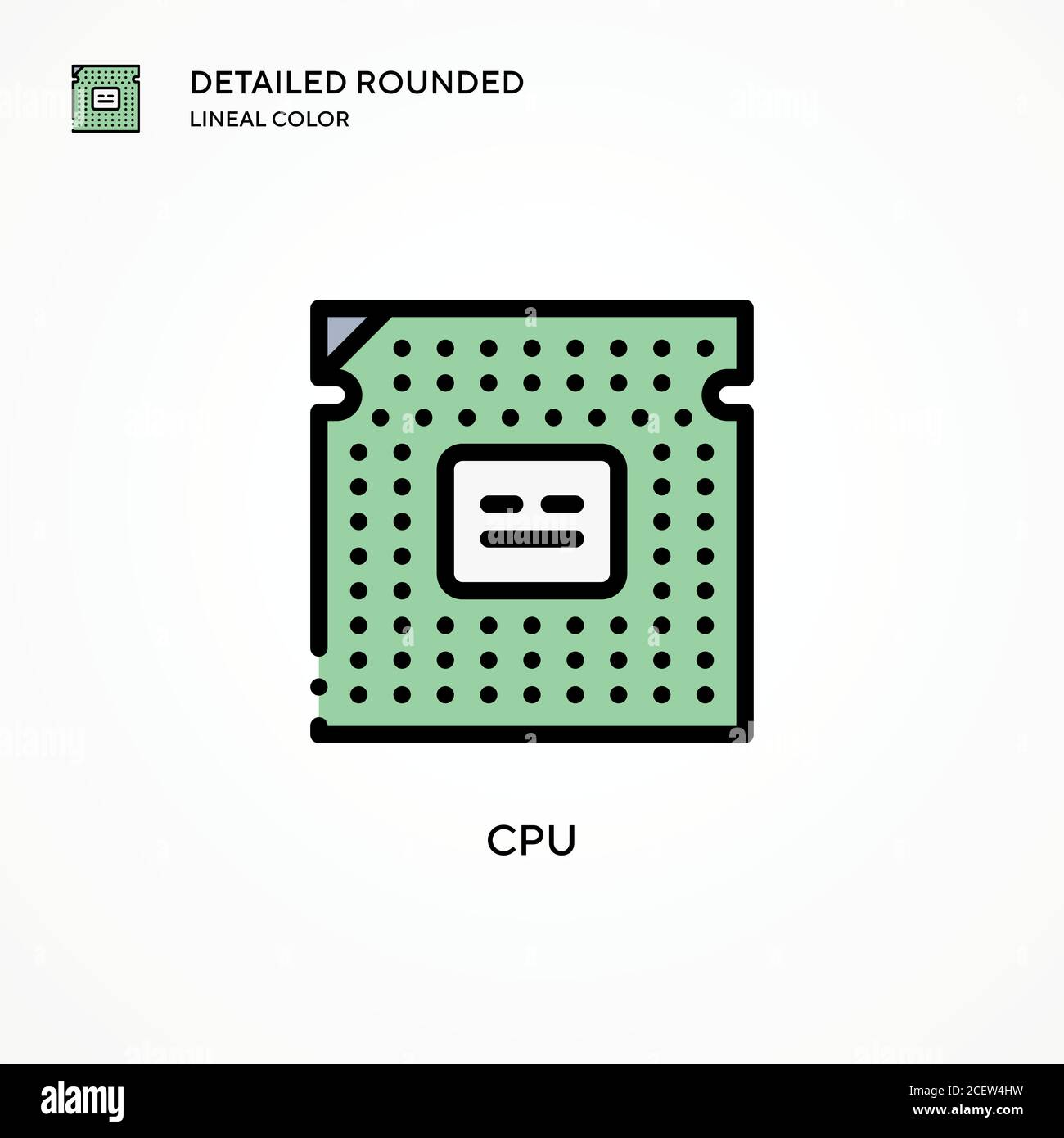 cpu vector icon modern vector illustration concepts easy to edit and customize stock vector image art alamy alamy