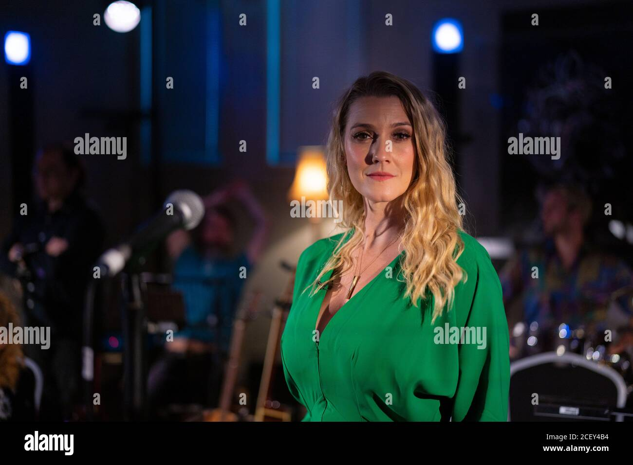 Alice Fearn poses for photos at L-Acoustics Creation in London as part of West End Unplugged, an initiative to raise money for various charities suppo Stock Photo