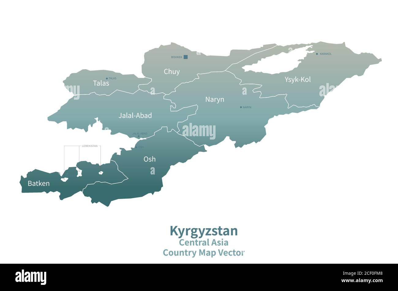 Picture of: Kyrgyzstan Vector Map Country Map Green Series Stock Vector Image Art Alamy