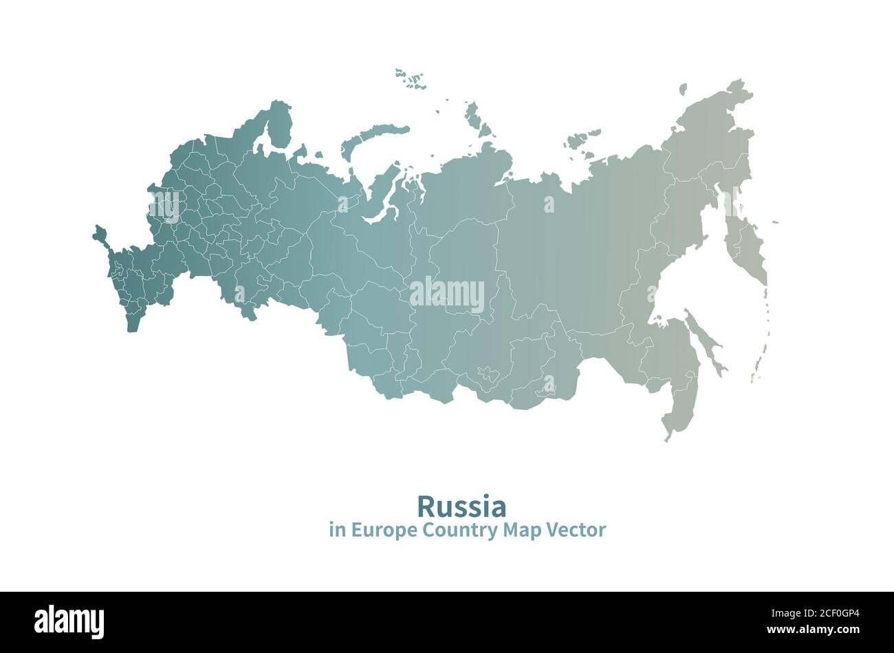 Picture of: Russia Vector Map European Country Map Green Series Stock Vector Image Art Alamy
