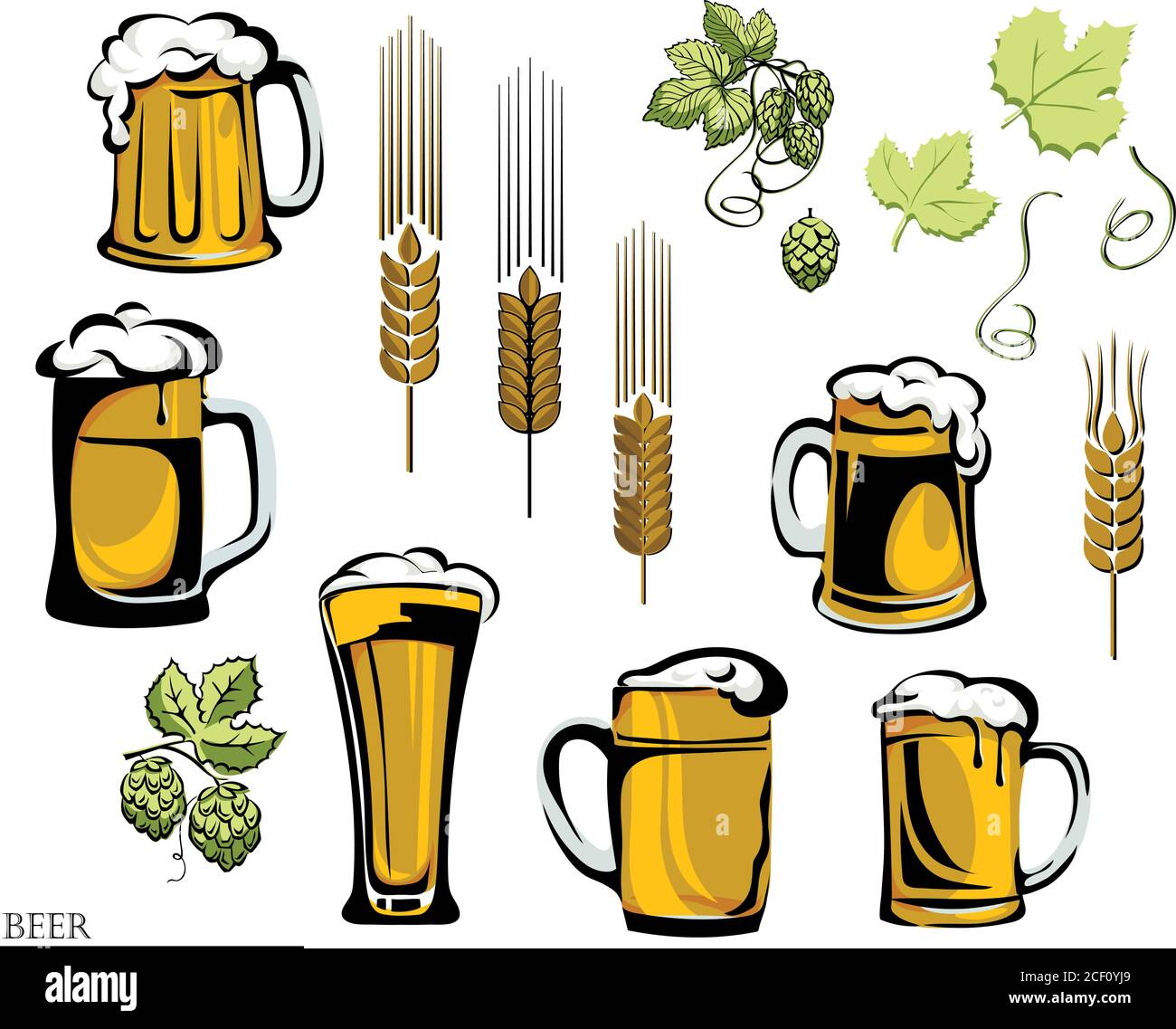 Beer Beer Mug Logo Hop Vector Illustration Elements Of Graphic Registration Stock Vector Image Art Alamy