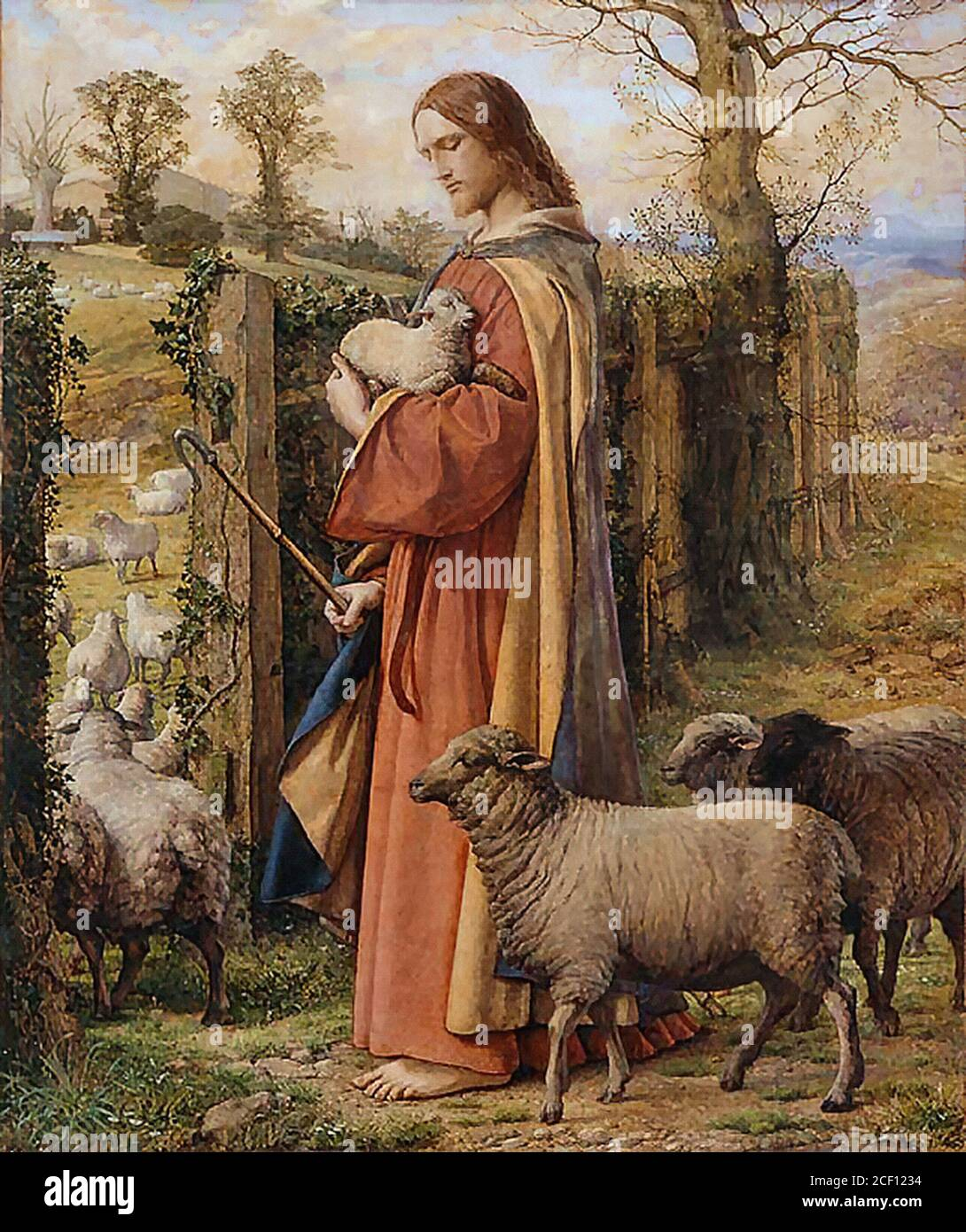 Dyce William - the Good Shepherd - British School - 19th Century Stock  Photo - Alamy