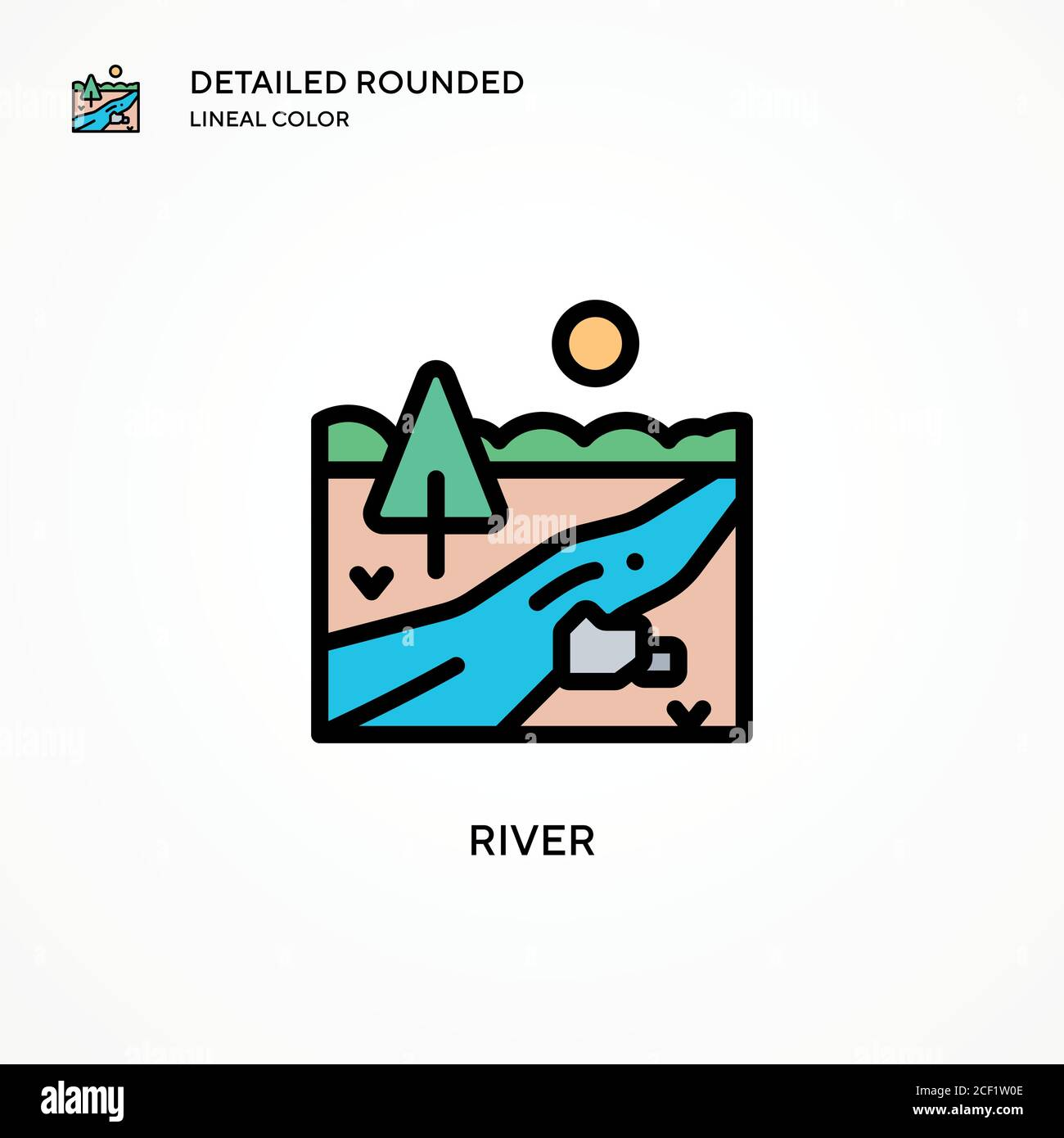 river vector icon modern vector illustration concepts easy to edit and customize stock vector image art alamy alamy