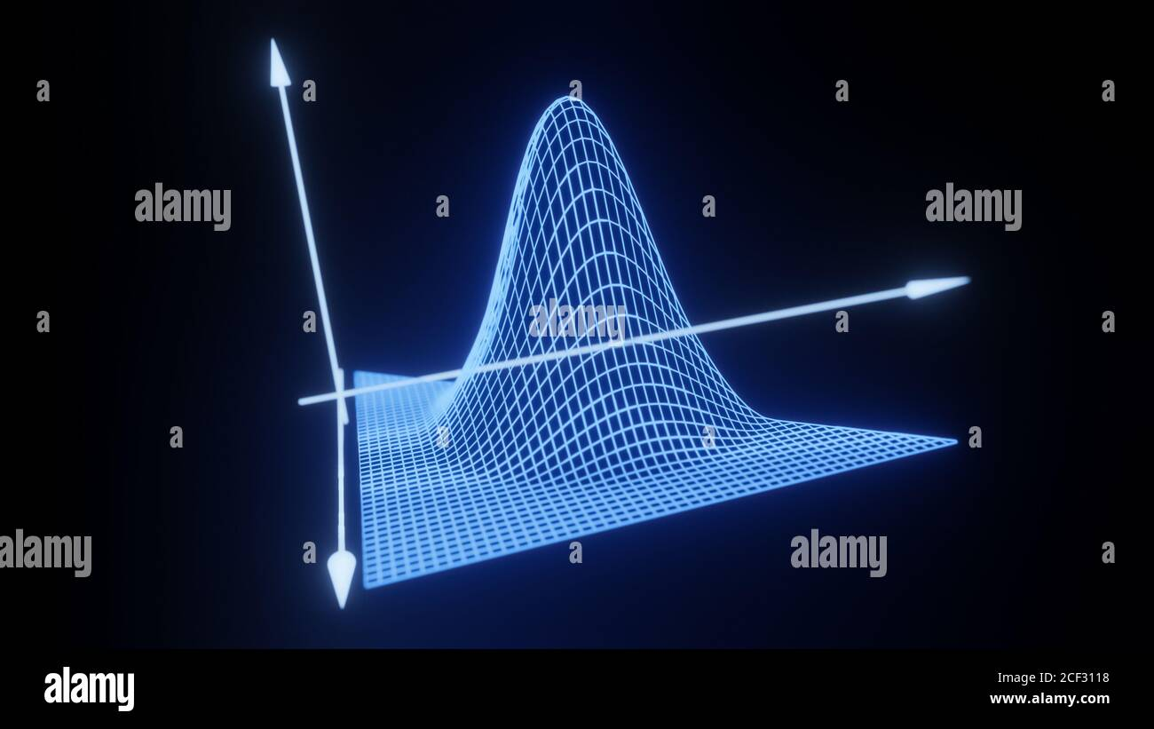 Mathematical formula equation axis visualization, modern abstract grid, wireframe structure, background, digital technology science concept 3D render Stock Photo