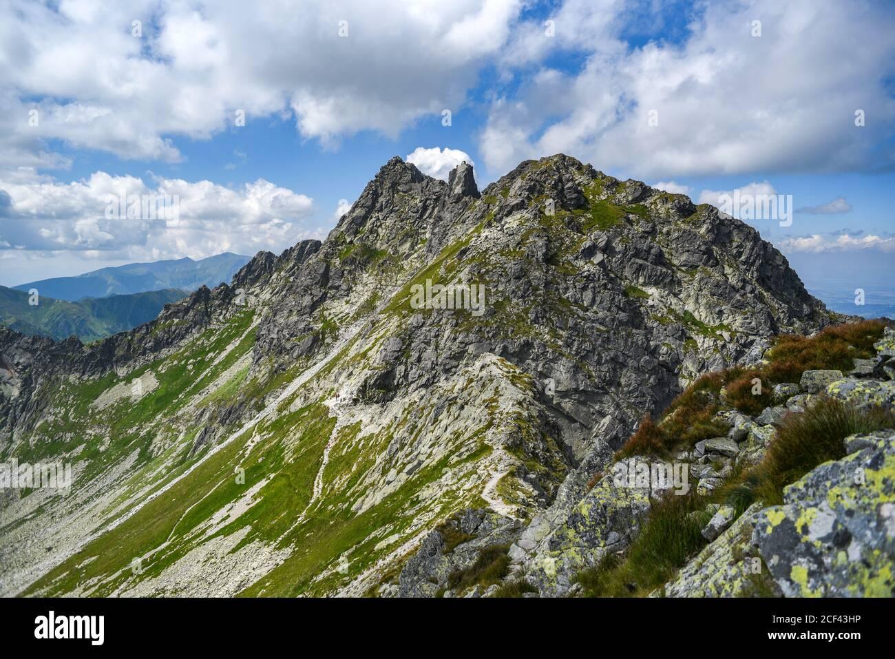 Landscape of Tatra mountains in Poland. Mountain landscape. Stock Photo