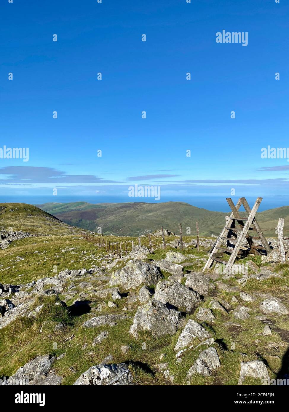 Cadair Idris mountain in North Wales, part of Snowdonia National Park and close to the Mach Loop Stock Photo