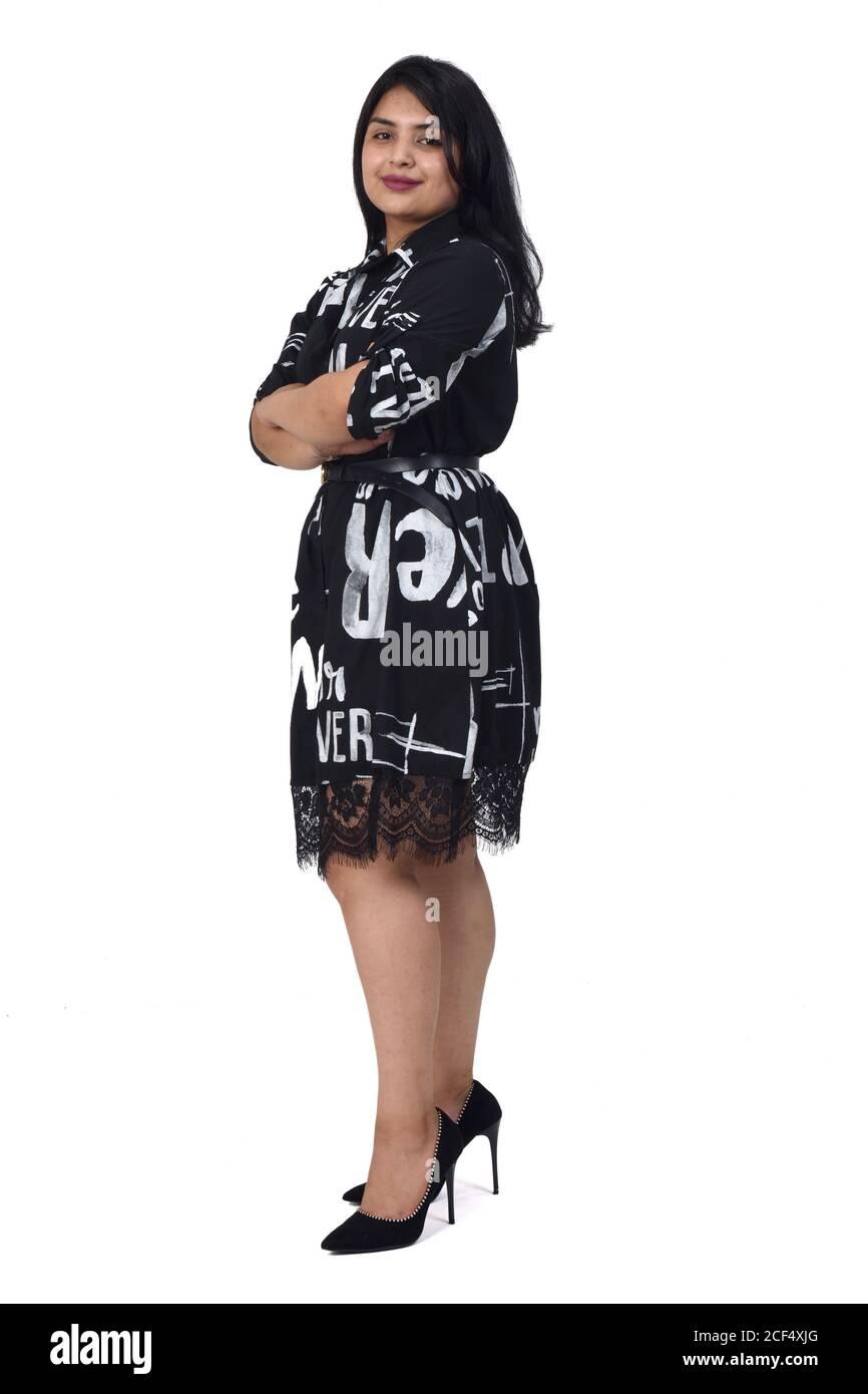 Beauties high heels in latin Short Skirts