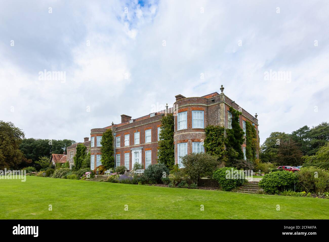 The historic country house stately home at Hinton Ampner, Bramdean, near Alresford, Hampshire, southern England Stock Photo