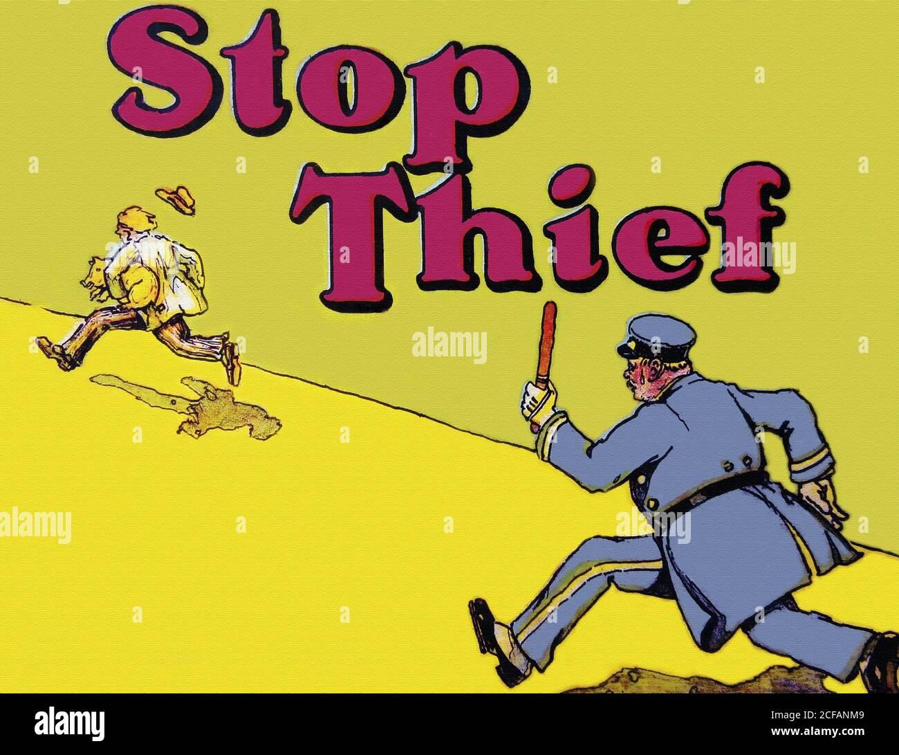 Stop Thief! Stock Photo - Alamy