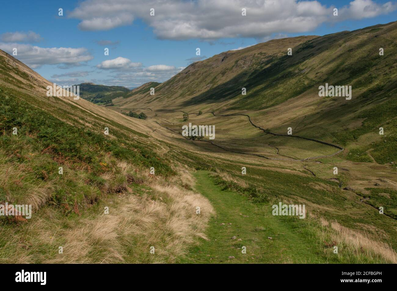 View down Boredale in Eastern Cumbria Stock Photo