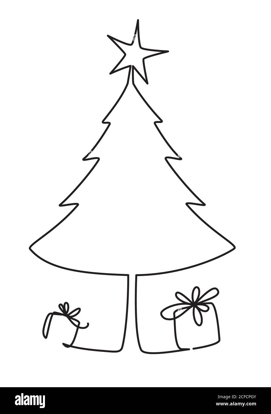 Tree Line Drawing Black And White High Resolution Stock Photography And Images Alamy