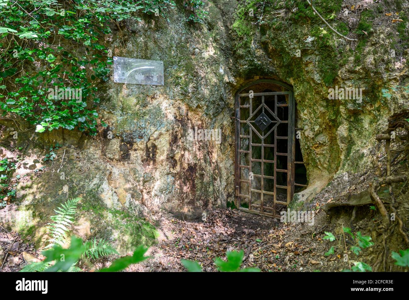 Italy, Trentino-South Tyrol, South Tyrol, Alto Adige, Etschtal, Terlan / Terlano, lead, silver, mining, Terlan silver mine, tunnels, gap in porphyry Stock Photo