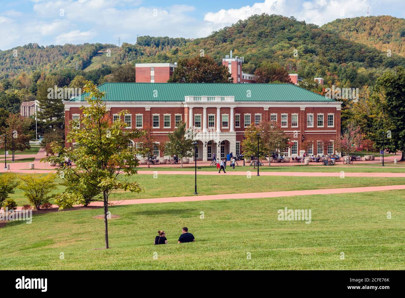 Cullowhee, Jackson County, North Carolina, United States of America.  Western Carolina University campus. Stock Photo